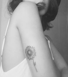 Sunflower tattoo: