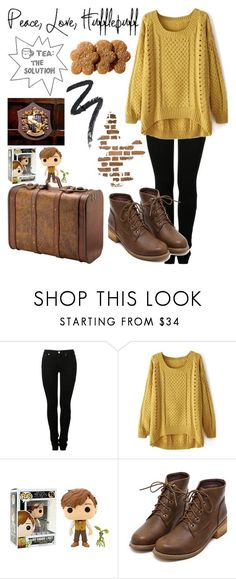 """Hufflepuff"" by diamonds610 ❤️ liked on Polyvore featuring MM6 Maison Margiela and Funko"