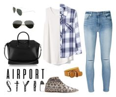 """""""get the look"""" by ra-n-ou ❤ liked on Polyvore featuring Gap, 7 For All Mankind, Rails, Givenchy and Ray-Ban"""