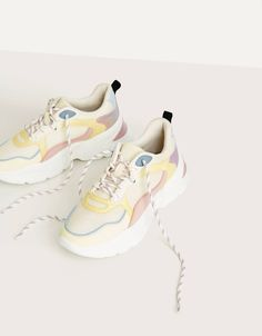 Combined sneakers with iridescent details - null - Bershka United States Air Max Sneakers, Sneakers Nike, Nike Huarache, Iridescent, Nike Air Max, Detail, Shopping, Shoes, Stilettos