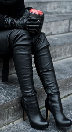 This is soo me. I wear A LOT of leather black on black..