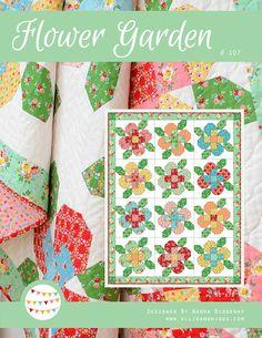PDF Quilt Pattern - Flower Garden