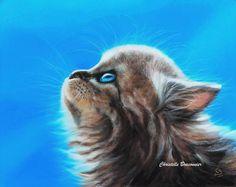 """""""Coton blue"""" - Pastel sec par Christelle Braconnier, d'après une photo libre de droits"""