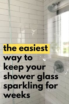 Check out this easy cleaning hack for how to clean shower doors and make them shine longer. This is the best way to clean your bathroom shower. Get rid of doors soap scum with this best bathroom cleaning product. Clean Shower Doors, Glass Shower Doors, Bathroom Cleaning Hacks, Household Cleaning Tips, Homemade Cleaning Products, Cleaning Recipes, Hard Water Stains, Soap Scum, Shower Cleaner