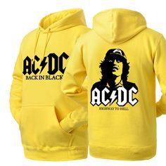 ACDC new style BACK IN BLACK pullover hoodie