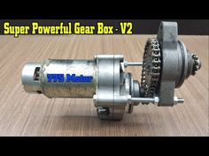 Super Powerful Gear Box with Starter and 775 Motor - Electric Bicycle, Electric Scooter, Electric Motor, Motorized Bicycle, Diy Box, Motorcycle Gear, Cool Bikes, Modern Classic, Ideas