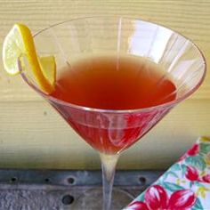 Cosmo-Style Pomegranate Martini Allrecipes.com...I subbed lime juice for the lemon and it was GREAT