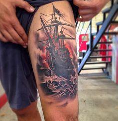 Boat High Tattoo - 40 Boat Tattoo Designs  <3 <3
