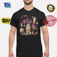9a79b1eb Pokemon Gastly haunter and Gengar in Lavender town shirt Lavender, Youth,  Young Man,