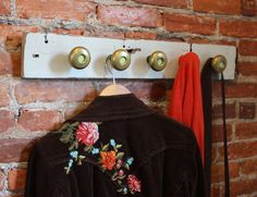 Turn Old Door Knobs Into a New Coat Rack | Made + Remade