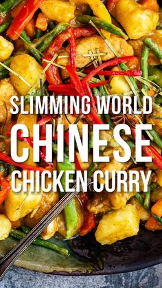 Looking for a Slimming World Chicken Curry? Forget takeaways, this Chinese Chicken Curry is packed with flavour, ready in 30 minutes and totally Syn Free! Slimming World Chicken Dishes, Slimming World Free, Slimming World Dinners, Slimming World Chicken Recipes, Slimming Recipes, Slimming World Curry, Slimming World Fakeaway, Slimming World Syns, Plats Weight Watchers