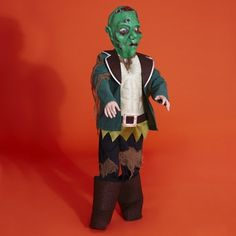 Bring out their inner monster this Halloween with a ragged Frankenstein costume for boys