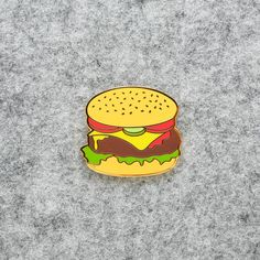 Burger Enamel Pin Lapel Pin