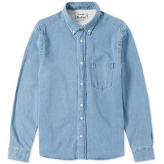 a1b7078c3b494 Acne Studios Isherwood Denim Shirt Washed Denim 1 Acne Studios, Collection  Pour Hommes, Chemise