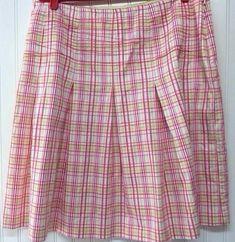 Vintage 1990s Red Pink Plaid  Pleated by PeachburritoVintage, $27.00