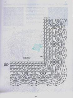 more ideas to crochet and knitting sweater from collar down Crochet Collar Pattern, Crochet Lace Edging, Crochet Fabric, Crochet Motifs, Crochet Borders, Crochet Chart, Crochet Tablecloth, Crochet Diagram, Thread Crochet