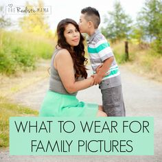 What to Wear for Family Pictures. Great ideas for parents trying to figure out what the family should wear for those special family photos. #greatideas