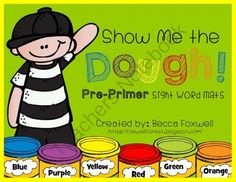 Show Me the Dough! Pre-Primer Sight Word Mats from Foxwell Forest on TeachersNotebook.com -  (84 pages)  - My students LOVE using Play Dough at centers! These Pre-primer sight word mats are easy to use: just print, laminate, cut, and add play dough! A great addition to any word work center and a fun way for your students to practice their sight words! Perfect