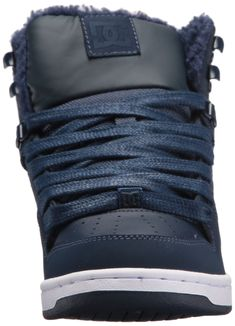 f3652077f2 DC Womens Rebound High Wnt Skate Shoe Navy 6.5 B B US    Learn more by