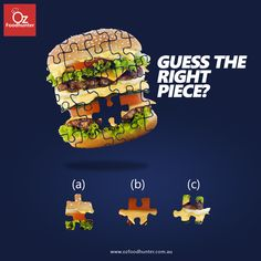 Can you guess the right piece? Food Graphic Design, Food Poster Design, Creative Poster Design, Ads Creative, Creative Posters, Graphic Design Tutorials, Ad Design, Clever Advertising, Advertising Design