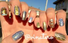 My Silver & Gold Blingy NYE Nails!