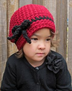 CROCHET PATTERN - Going Somewhere - a crochet slouchy hat pattern, hat with bow in 3 sizes (Toddler, Child, Adult) - Instant PDF Download