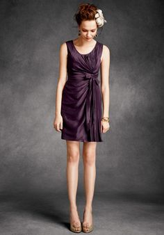 Twist and Shout Dress in Grape