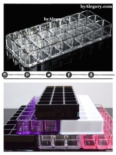 Acrylic Lipstick Organizer & Beauty Care Holder 24 spaces byAlegory® CLEAR TRANSPARENT (VARIOUS COLORS AVAILABLE) byAlegory,http://www.amazon.com/dp/B00E00X3VO/ref=cm_sw_r_pi_dp_SHhBtb10JSMDV511