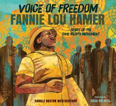 Despite prejudice and abuse, even being beaten to within an inch of her life, Fannie Lou Hamer was a champion of civil rights. Integral to the Freedom Summer of 1964, Ms. Hamer gave a speech at the Democratic National Convention that aired on national TV and spurred the nation to support the Freedom Democrats. Voice of Freedom celebrates Fannie Lou Hamer's life and legacy with an inspiring message of hope, determination, and strength. 9780763665319/10 & up #weneeddiversebooks #civilrights