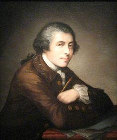 Self portrait of the colonial painter Mathew Pratt 1734-1805.