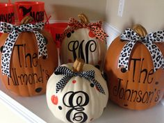 Look at these ADORABLE pumpkins done by Bonnie Hunt! So cute! Thanks for being a Test Team Member Bonnie!