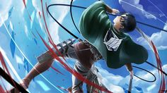 Levi Blade with Blood Attack on Titan Wallpaper