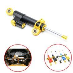 Universal Motorcycle Damper Steering Stabilizer Moto Linear Safety Control For Honda Interceptor 800 CBR600F4i CBR500R CBF190R #Affiliate