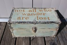 Vintage Chest Trunk Foot Locker with Handles Not by SnugHarborBay $ 75.00