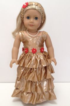 Poofy Dress American Girl Doll Clothes First by LaurasBitsofLace ...