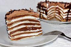 Mascarponés-mogyorókrémes palacsintatorta Hungarian Desserts, Hungarian Recipes, Hungarian Food, Sweet Desserts, No Bake Desserts, Dessert Recipes, Just Eat It, Sweet Cookies, Dessert Decoration