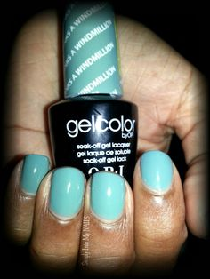 OPI Gelcolor Thanks A Windmillion Opi Gel Nail Colors, Gel Shellac Nails, Opi Nails, Gel Manicures, Perfect Nails, Gorgeous Nails, Pretty Nails, Super Cute Nails, Nails Only