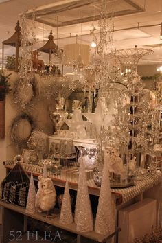 and then we went to NEST in Mystic Wow! We walked in the door and didn& know which way to look first. Every inch spark. Christmas Booth, Christmas Store, Christmas Holidays, Christmas Crafts, Christmas Decorations, Holiday Decor, Holiday Store, Xmas, Santa Christmas