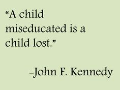 Wise words from JFK