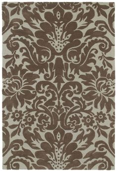 RugStudio presents Kaleen Crowne Duncan Chocolate 1702 Hand-Tufted, Better Quality Area Rug