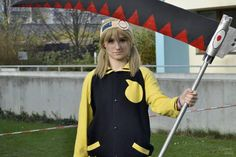 """""""We are prepared."""" Maka in Soul's clothes because it was comfy. 😁 Scythe made by my friend Michael. My Friend, Friends, Ann, Comfy, Cosplay, Clothes, Instagram, Outfit, Amigos"""