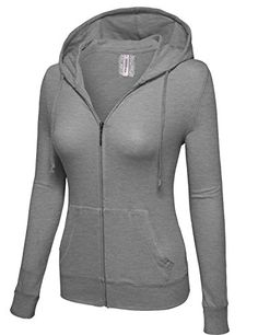 ZENNESSA Women's Active Long Sleeve Fave zip up Hoodie Jersey Jacket ** You can get additional details at the image link.