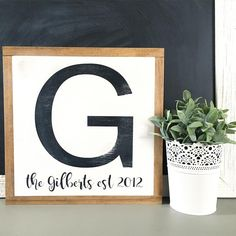 I am LOVING this new, slightly distressed, initial sign. You can choose to have just your last initial or add your established date. I also love that these signs can stand alone on a flat surface or you can hang them from the frame. I just added this new sign to the shop so click the link in my bio to go directly there. . . . . #adorneddecor #etsyseller #etsyshop #makersgonnamake #shopsmall #homedecor #familyestablishedsign #weddinggift #anniversarygift #modernfarmhouse #whiteandwood…