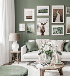 Gallery Wall Inspiration - Shop your Gallery Wall Decor Home Living Room, Living Room Green, Decor Room, Home And Living, Living Room Designs, Living Room Interior, Inspiration Wall, Living Room Inspiration, Decoration