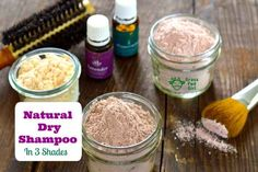 Natural Dry Shampoo Recipe in 3 Shades