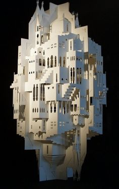 ingrid siliakus, reflections, paper arts, paper architecture, http://ingrid-siliakus.exto.org/