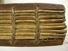 Note the interweaving cord loops of the Ethiopian binding. This is quite different from European bindings with leather thongs or cords onto which the gatherings sewn.
