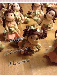 Bamboline fatte a mano in pasta di mais