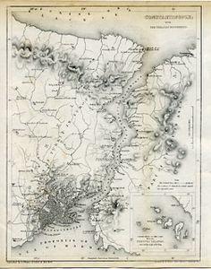 Ayasofya Istanbul, Turkey (ancient Constantinople) of Bizantine Map Istanbul Map, Istanbul Turkey, Old Maps, Antique Maps, Constantinople Map, Village Map, Map Globe, Fantasy City, Explore Travel