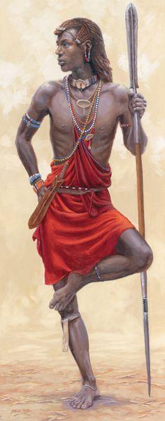 Masai Moran canvas print